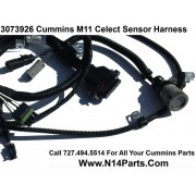 3073926 Cummins L10 & M11 Celect (Prior to 1996) External Engine Sensor Wiring Harness No Ambient Sensor Plug.