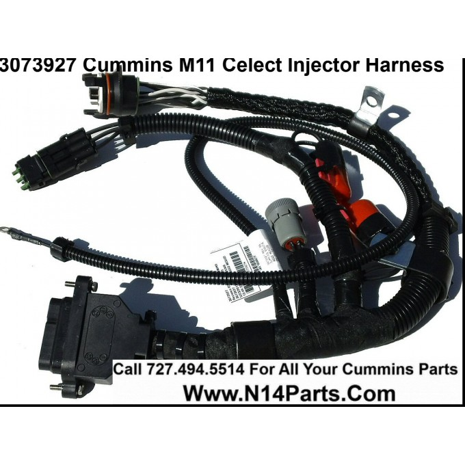 3073927 cummins l10, m11 celect (prior to 1996) external engine Cummins Celect Wiring -Diagram 3073927 cummins l10, m11 celect (prior to 1996) external engine injector wiring harness
