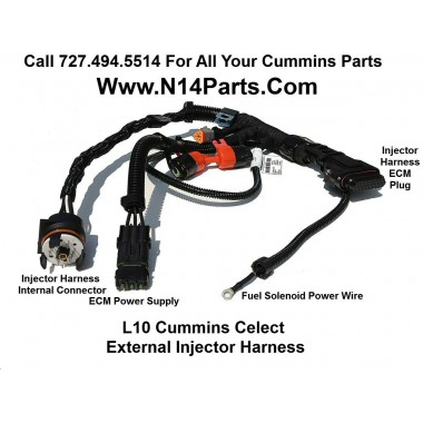 3083779 Cummins L10/M11 Celect External Engine Injector Wiring Harness