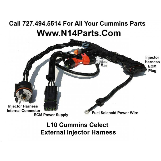 3083779 cummins l10 m11 celect external engine injector wiring harness Cummins Celect Wiring -Diagram