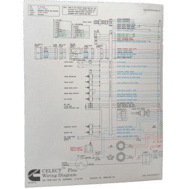 NEW Cummins M11, N14 CelectPlus Engines Electrical Diagram Laminated Brochure